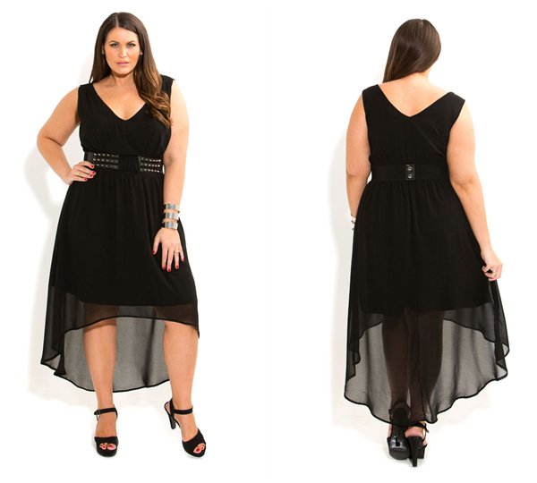 City Chic Studded Belt Dress - This is Meagan Kerr