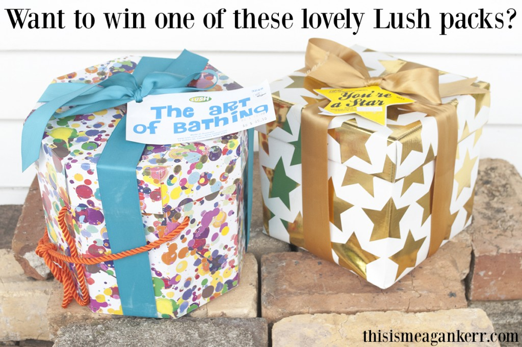 Lush Giveaway: The Art of Bathing and You're a Star gift packs