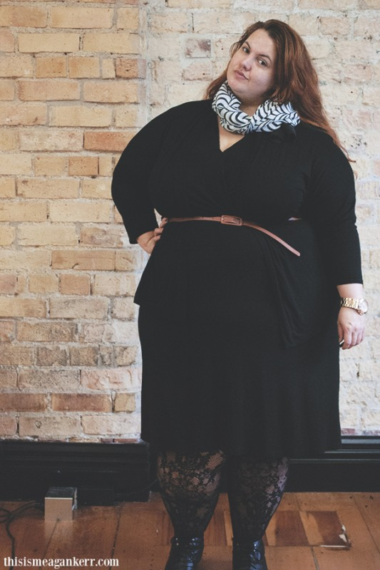 Black lace plus size fashion