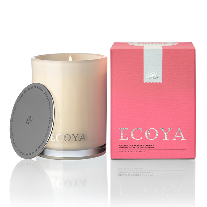 Ecoya Guava and Lychee Sorbet Madison Jar candle