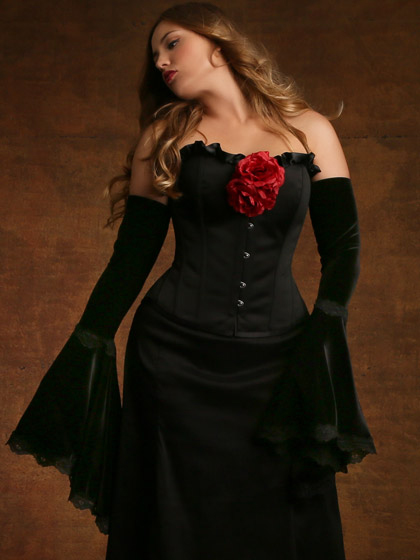 plus size halloween costume vampire seductress witch hips and curves