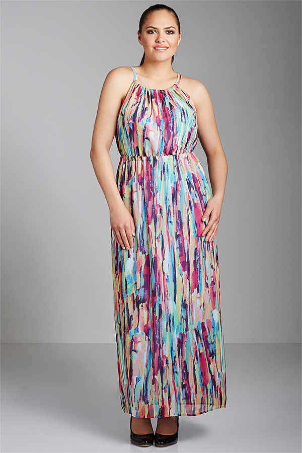 EziBuy Sara Cut-Away Maxi Dress