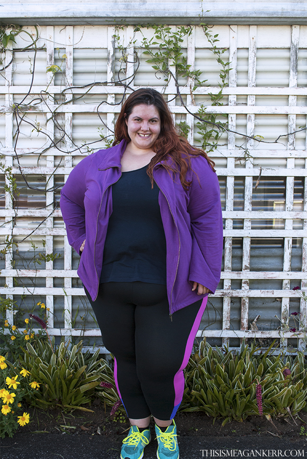 Meagan Kerr Plus Size Workout Wear FitForever Nikki Leggings Autograph Basic Tank EziBuy Sara Zip Jacket