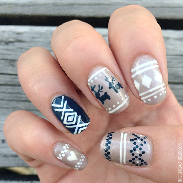 Christmas Sweater Nails This Is Meagan Kerr