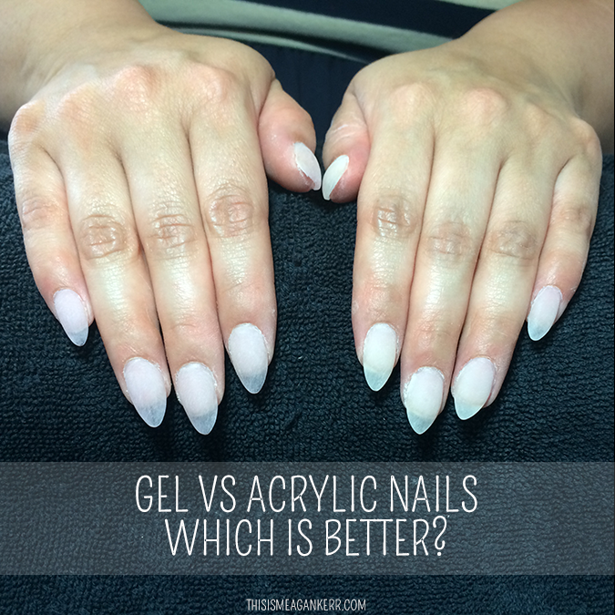 Gel nails of acrylic nails