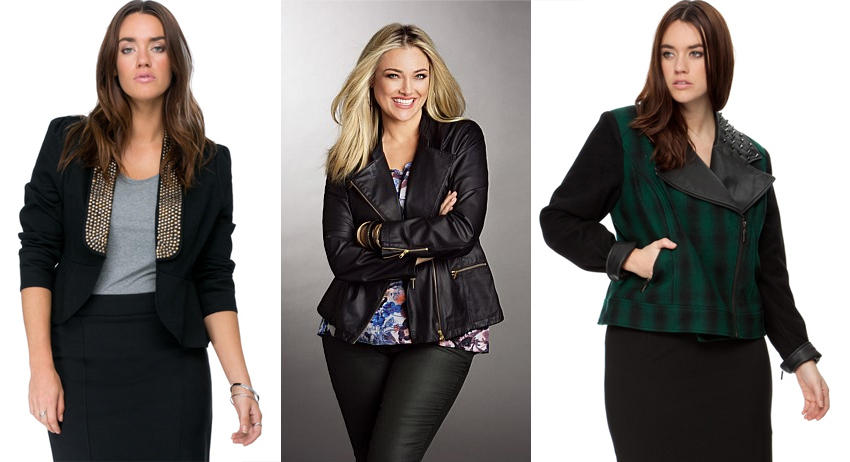 Plus size coats AW15 Cropped Jackets