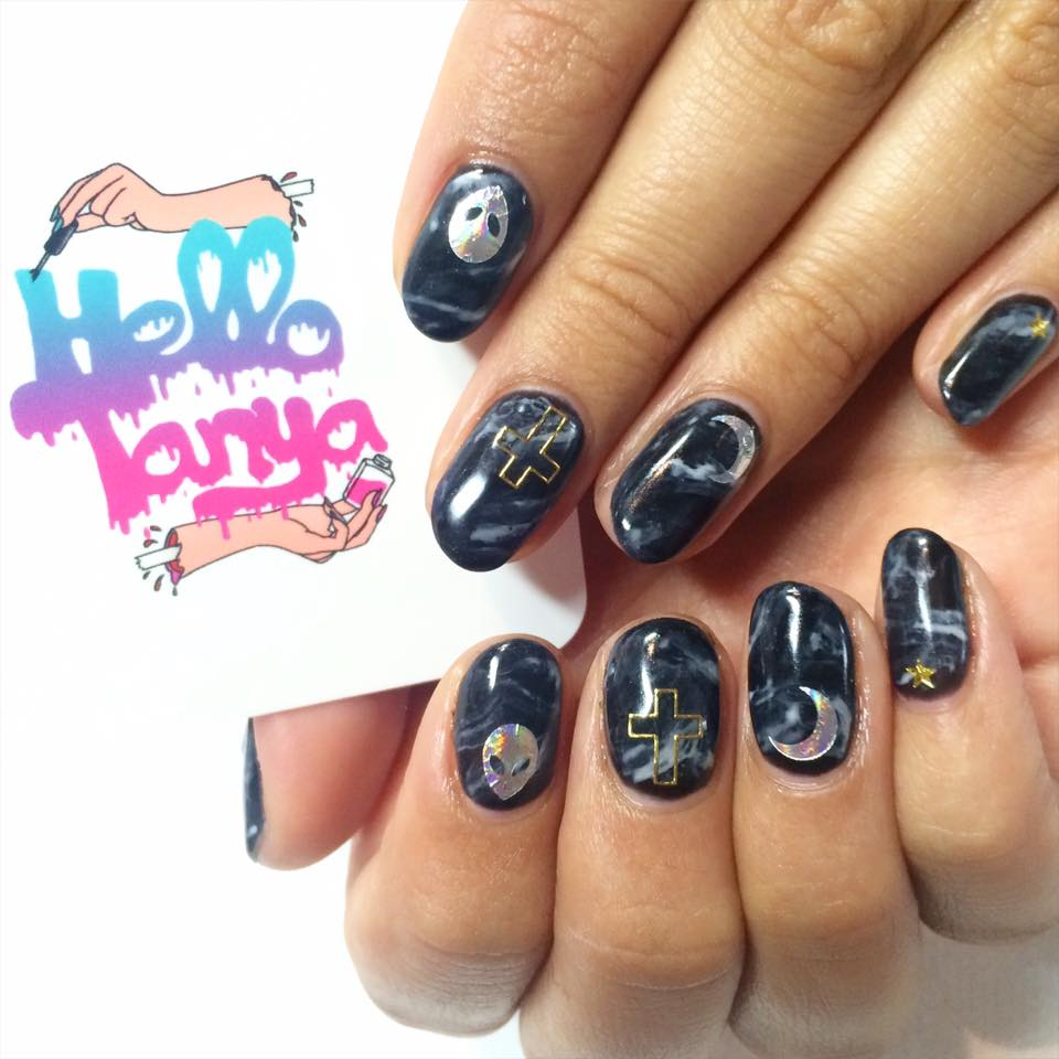 Marbled Witch Nail Art Hello Tanya