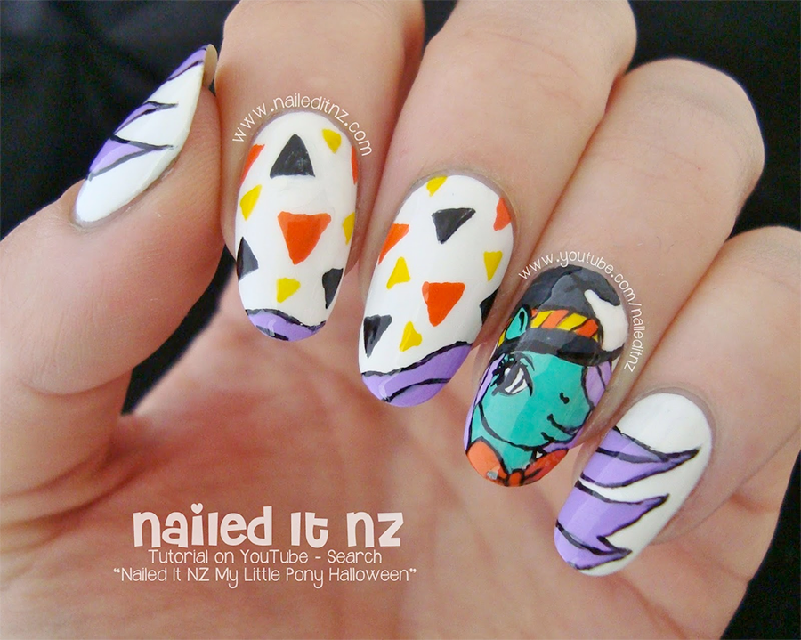 My Little Pony Halloween Nail Art Tutorial by Nailed It NZ