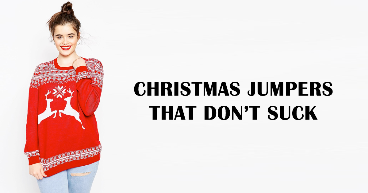 Plus size Christmas jumpers that don't suck