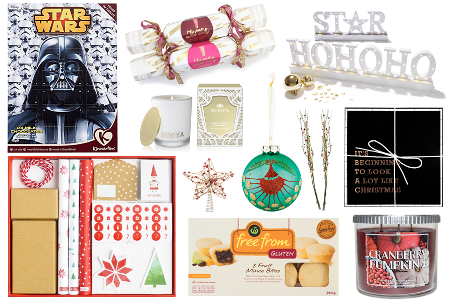 Friday Favourites: The Christmas Spirit Edition // Star Wars Advent Calendar; My One And Only Lychee Flower Festive Bon-bon; ECOYA Fresh Pine Needles Mini Madison Jar; Kmart Ho Ho Ho and Star LED; Kikki.K Christmas Mini Wrapping Kit; Star Tree Topper; Farmers Hospic Bauble Pohutukawa by Michel Tuffery; Redcurrent Rustic Xmas Branches; kikki.K Christmas Greeting Cards; Free From Gluten Christmas Mince Pies Gluten Free Bites; Bath & Body Works Cranberry Pumpkin Candle