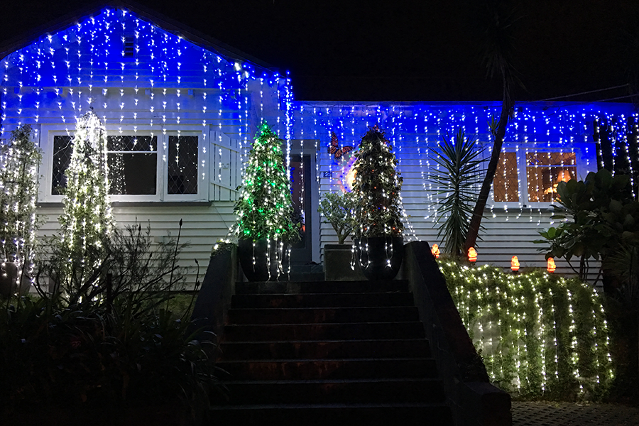 Holiday Traditions: Christmas Lights on Franklin Road, Auckland, New Zealand