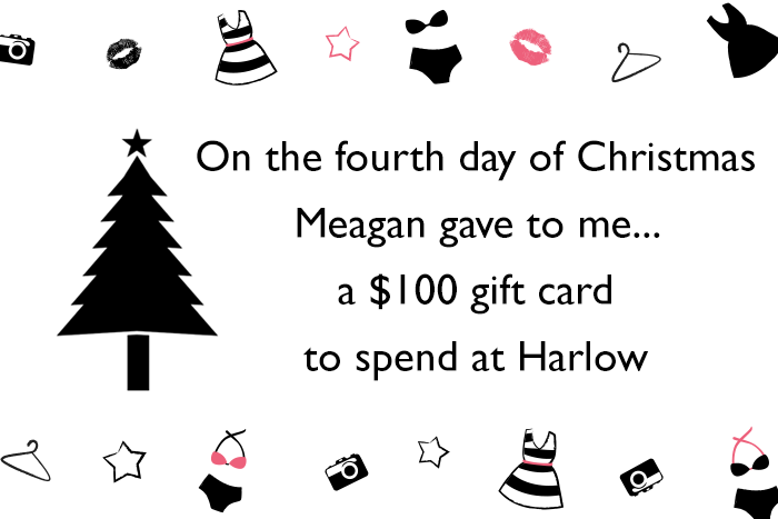 This is Meagan Kerr 12 Days of Christmas Giveaway - Harlow $100 Gift Card