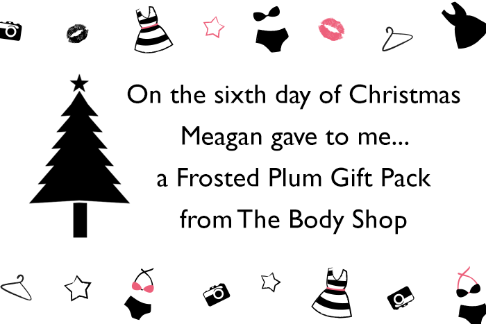 This is Meagan Kerr 12 Days of Christmas Giveaway - The Body Shop Frosted Plum Gift Pack