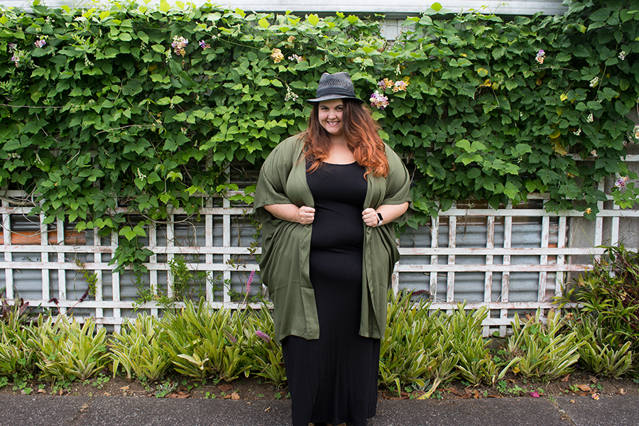 Meagan Kerr wears Yours Maxi Dress and 17 Sundays Slouch Kimono