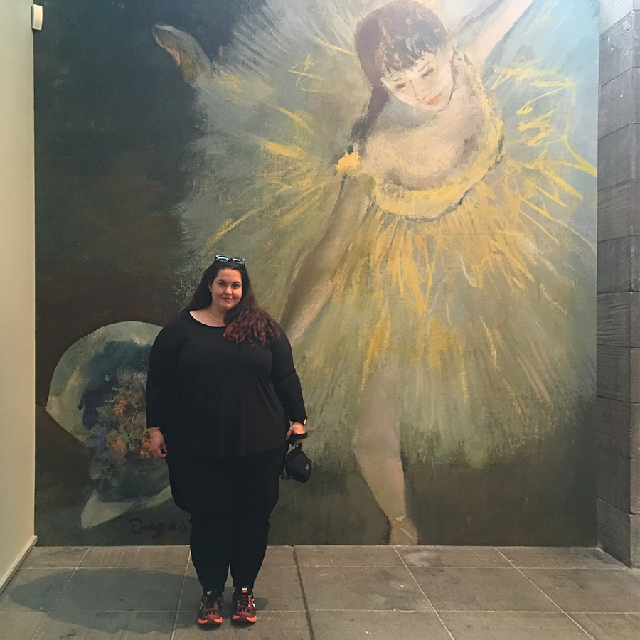 New Zealand blogger Meagan Kerr visits the National Gallery of Victoria in Melbourne, Australia