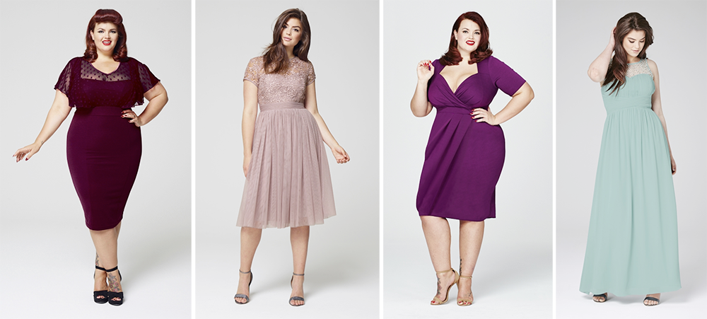 Plus size bridesmaid dresses: Simply Be