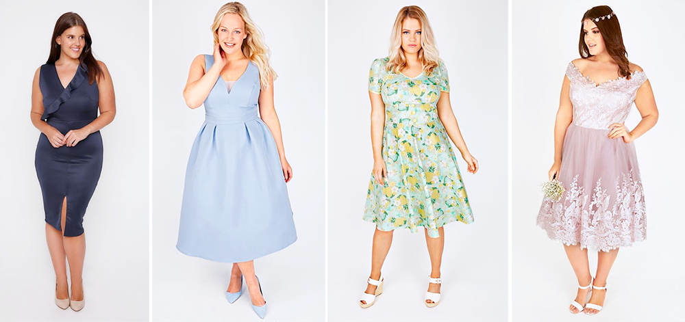 Plus size bridesmaid dresses: Yours Clothing