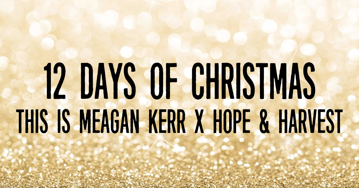 This is Meagan Kerr 12 Days of Christmas Giveaways: Hope & Harvest