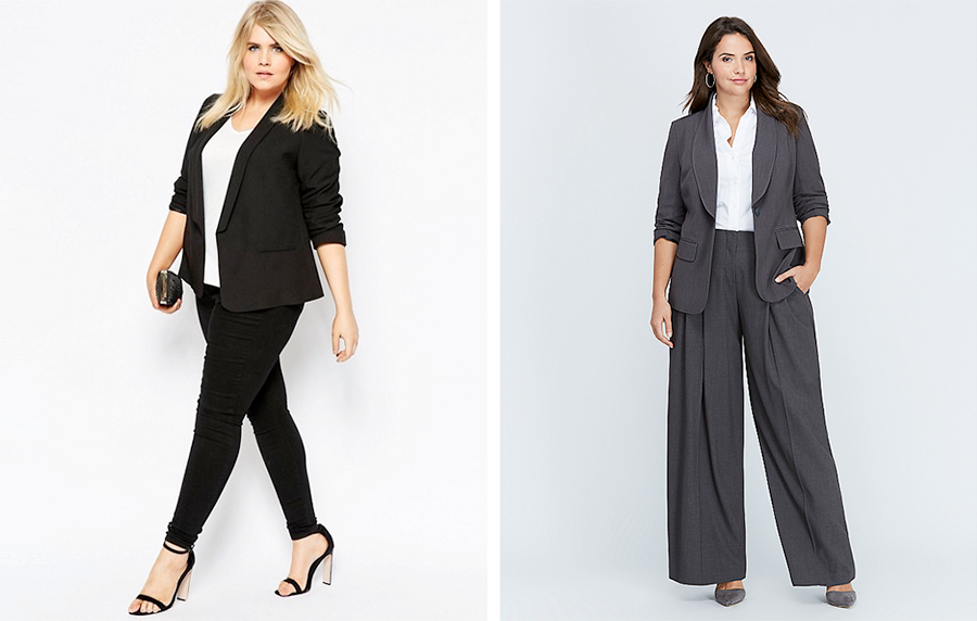 ASOS CURVE Blazer AUD $82.00 and Lane Bryant Stretch Blazer $153.40