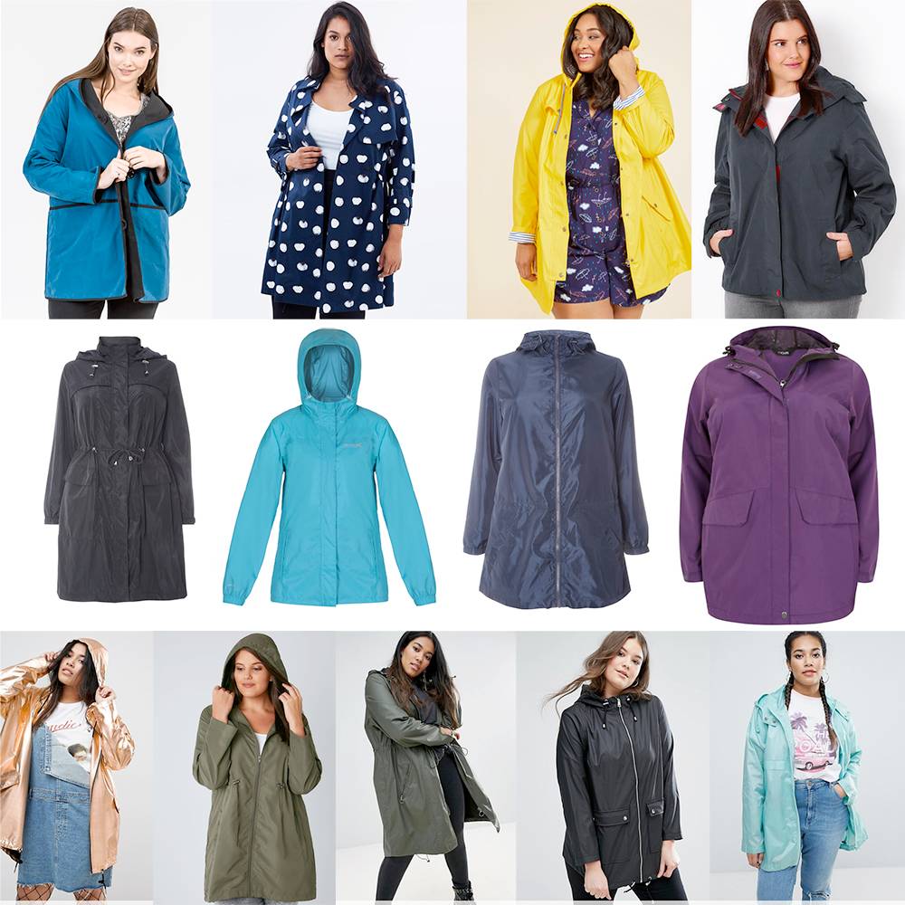 AW17 Plus size coats for wet weather // K&K Reversible Jacket with Hood, $159.90 | Advocado Full Sweep Trench Jacket, AUD $145.00 | ModCloth At All Showers Raincoat, USD $79.99 | Waterproof Rain Jacket with Removable Hood, AUD $39.00 | Evans Longline Mac, £60.00 | Regatta Womens Pack It Jacket II, $59.00 | Evans Pear Fit Rain Mac, £18.00 | Outdoors Waterproof & Windproof Hooded Shield Jacket, AUD $78.00 | ASOS CURVE Rainmac, AUD $99.00 | Shower Resistant Pocket Parka Jacket with Hood, AUD $48.00 | ASOS CURVE Waxed Parka Rainwear, AUD $109.00 | New Look Plus Matte Anorak, AUD $80.00 | ASOS CURVE Pac-A-Mac, AUD $44.00