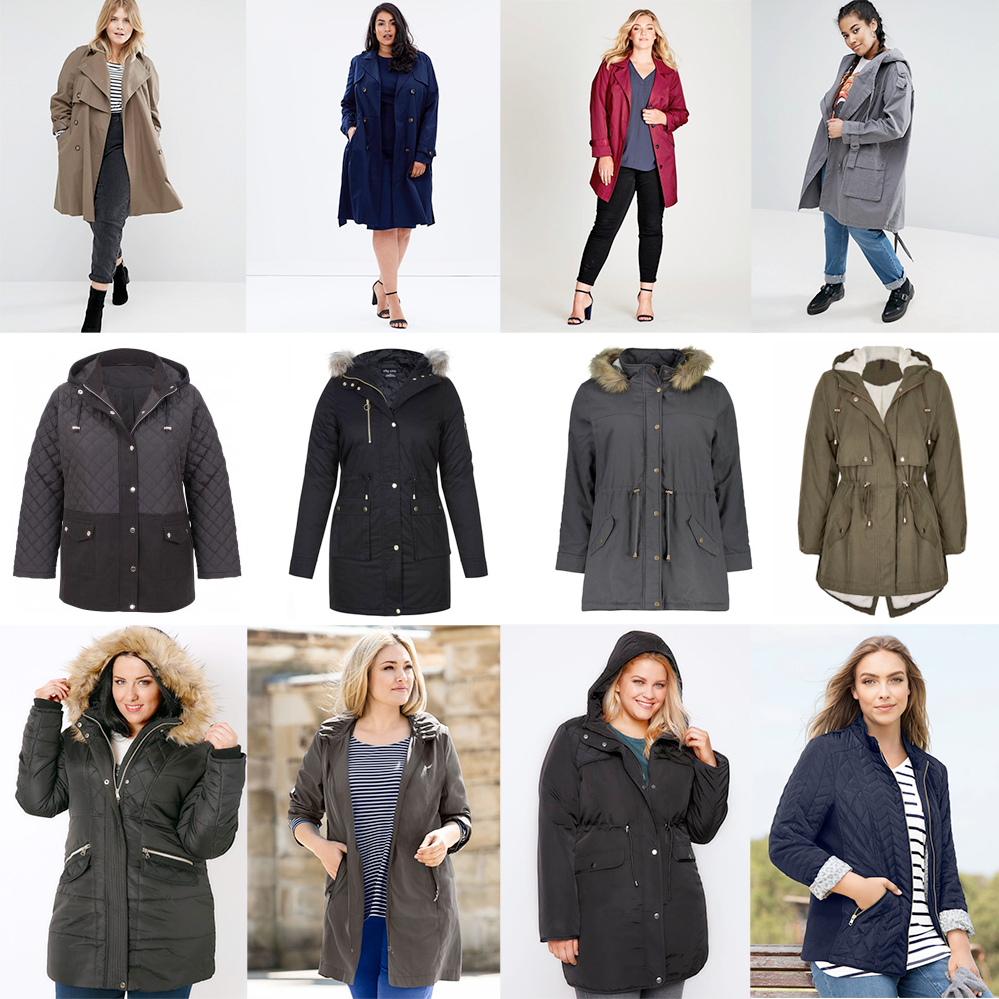 AW17 Plus size coats for windy weather // ASOS CURVE Mac, AUD $129.00 | Lost Ink Plus Pleat Back Mac, AUD $149.95 | Autograph Button Through Trench Coat, AUD $129.99 | ASOS CURVE Waterfall Parka, AUD $109.00 | Isobelle Plus Quilted Jacket, $49.00 | City Chic Snowed In Parka, $179.99 | Kmart Parka $40.00 | Crossroad Premium Hooded Parka, AUD $49.95 | Black Longline Puffer Jacket, AUD $65.00 | Sara Lightweight Parka, $89.00 | Black Padded Parka Coat, AUD $49.00 | Sara Hooded Parka, $139.99