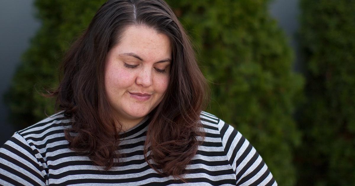 On turning 33: Meagan Kerr wears Yours Clothing striped dress and Lost and Led Astray Leggings
