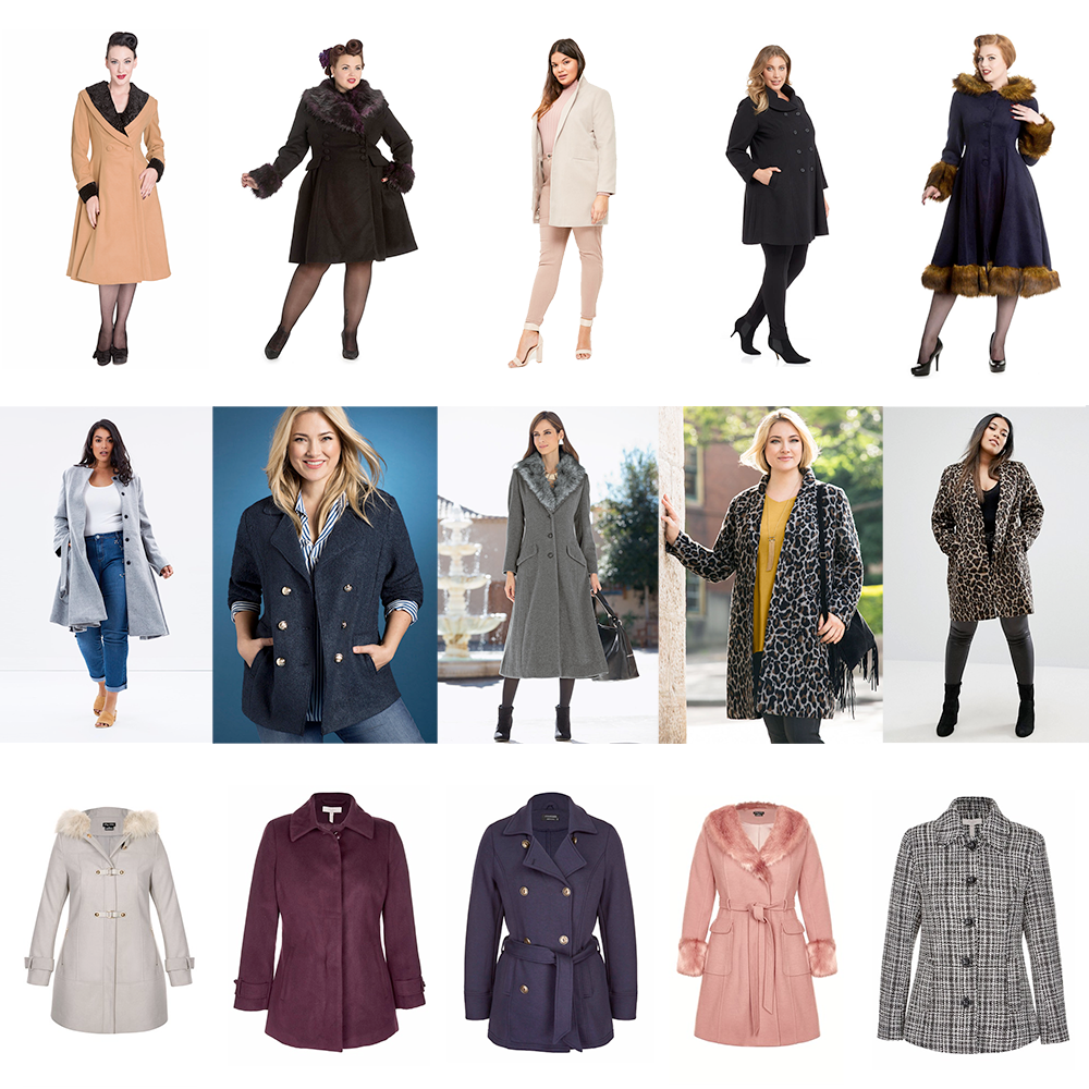 AW17 Warm plus size coats // Hell Bunny Vivien Coat, $199.00 | Hell Bunny Rock Noir Coat, $239.00 | Missguided Faux Wool Coat, AUD $90.95 | Wild Child Swing Coat, $299.99 | Hell Bunny Isadora Coat, $359.00 | Lost Ink Plus Skirted Coat, AUD $199.95 | Sara Pea Coat, $149.99 | Together Woman Faux Fur Trim Coat, $239.99 | Sara Animal Coat, $149.99 | River Island Plus Leopard Print Coat, AUD $159.00 | City Chic Wonderland Coat, $199.95 | Millers Melton Coat, AUD $50.00 | Crossroads Fleece Pea Coat, AUD $49.95 | City Chic Make Me Blush Coat, $199.95 | Millers Melton Coat, AUD $60.00