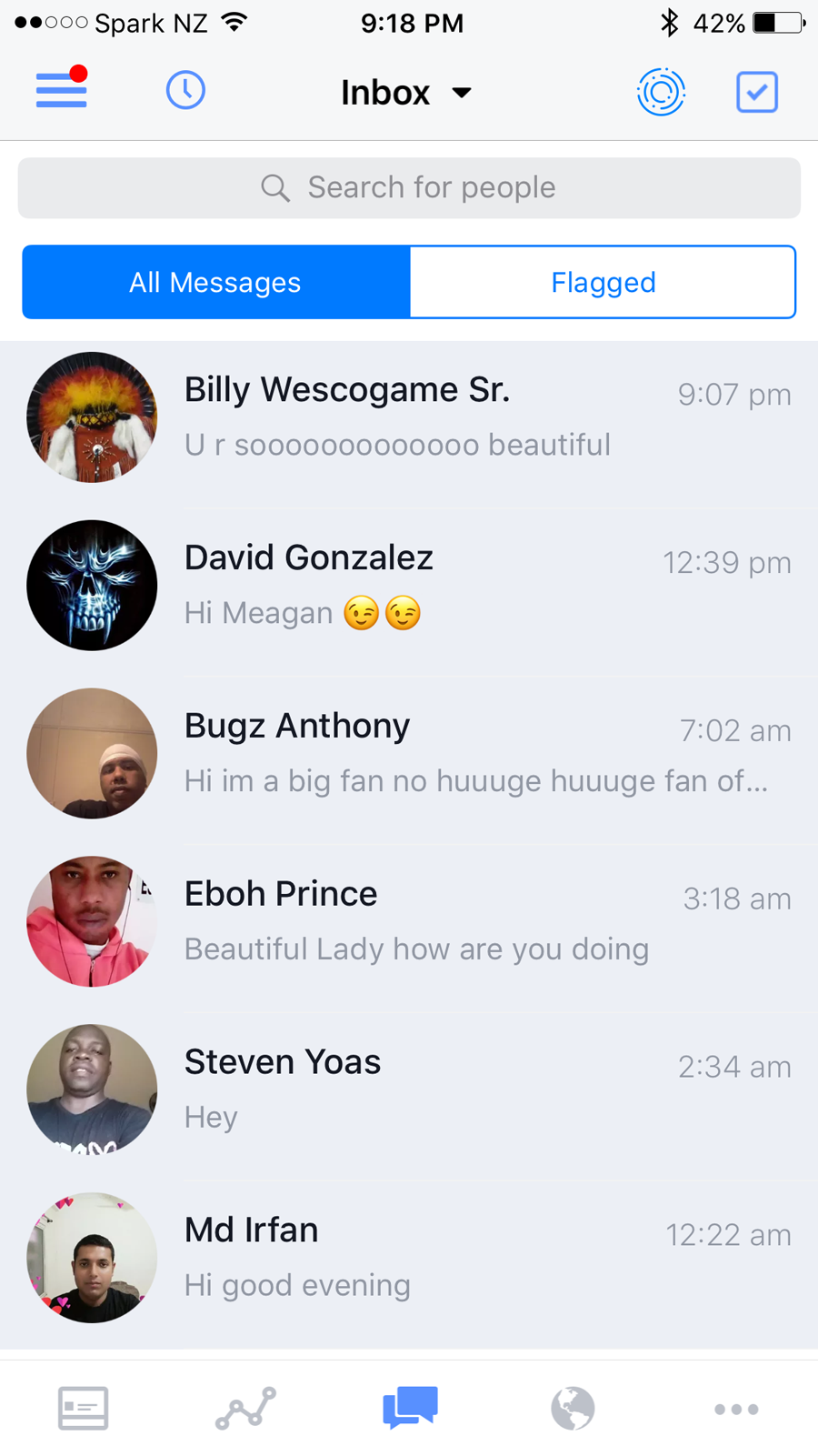 Online harassment: this is what my inbox looks like on a regular basis