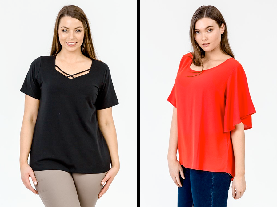 K&K Fashions Spring 17 Lookbook | Sweetheart Strap Tee and Fluted Bell Sleeve Top