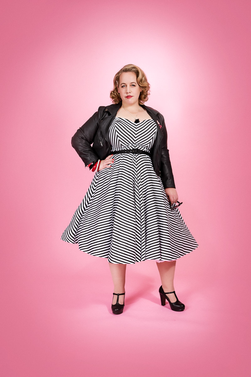 Emma Joyce's Plus Size Project 333 Wardrobe. Photo from The Beauty School Dropouts shoot with Tony McKay Studios
