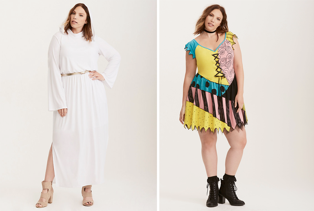 Plus Size Halloween Costumes // Princess Leia from Star Wars and Sally from Nightmare Before Christmas
