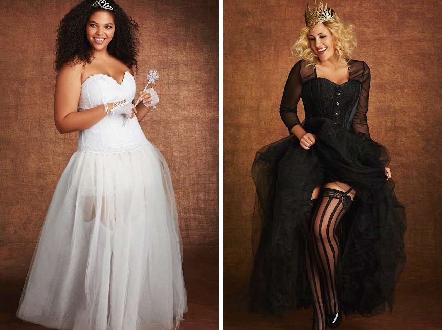 Plus Size Halloween Costumes // Cinderella and Queen from Hips & Curves
