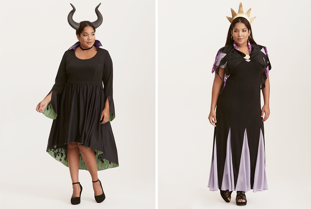 Plus Size Halloween Costumes // Maleficent and Ursula from The Little Mermaid