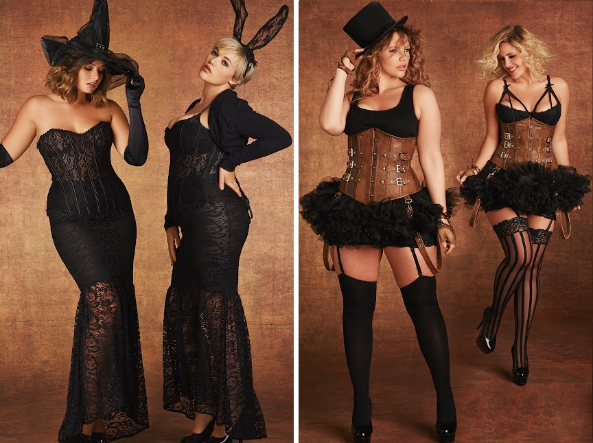 Plus Size Halloween Costumes // Witch, Bunny and Steampunk Outfits from Hips & Curves