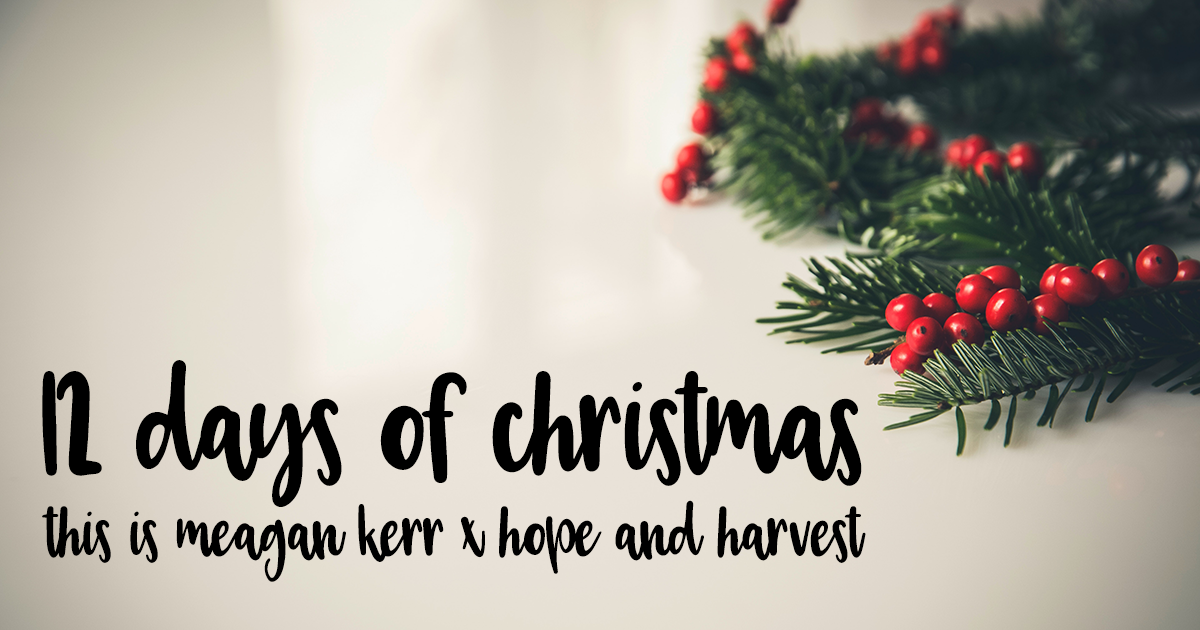 12 Days of Christmas Giveaways 2017   This is Meagan Kerr x Hope & Harvest