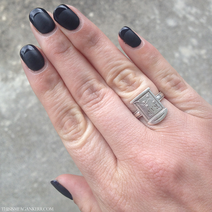 Matte Black French Manicure This Is Meagan Kerr