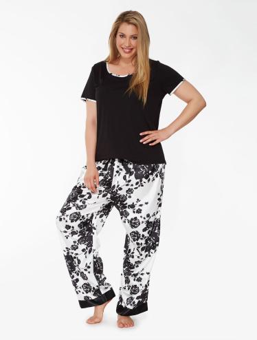 170898bfc Plus Size Sleepwear Farmers Lyric Plus Rose Satin PJ Set ...