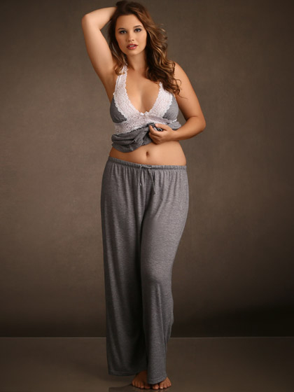 9a20f68d370 Plus Size Sleepwear Hips and Curves Super Soft and Comfy Pajama Pants and  Halter Top with ...
