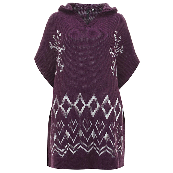 plus size christmas sweaters that dont suck evans purple christmas poncho - Misfits Christmas Sweater