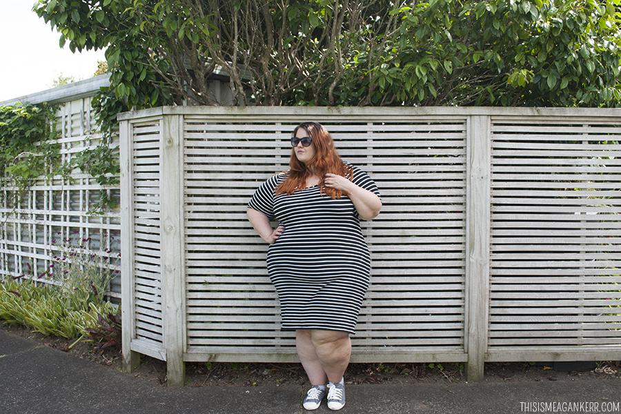 25f137c9ab70 Figure-hugging stripes - This is Meagan Kerr