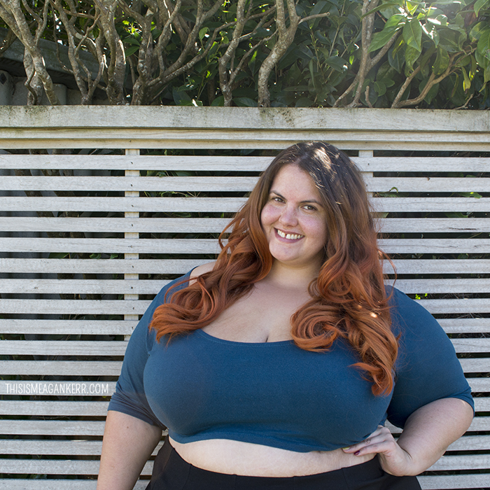 Crop top with high waisted skirt plus size