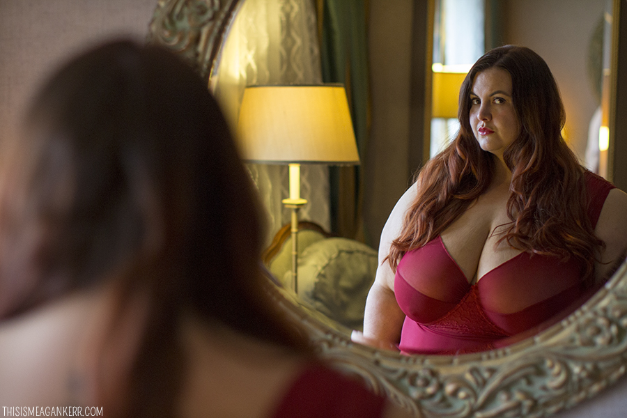 c37cddcdca8 Meagan Kerr wears Curvy Girl Plus Size Lingerie The Kate Babydoll    Photography by Ambient Light ...