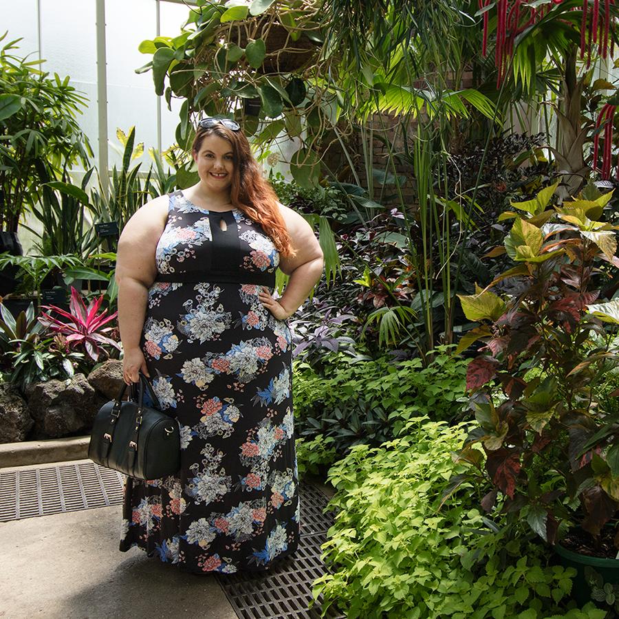 Kmart Plus Size Alexa Maxi Dress Jersey Floral