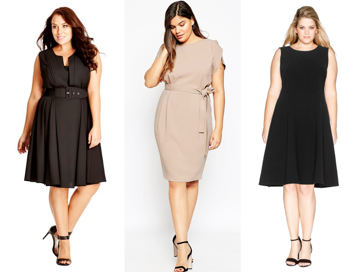 2cb006503941 Plus size officewear // City Chic Vintage Veronica Dress, ASOS Curve Belted  Midi Dress ...
