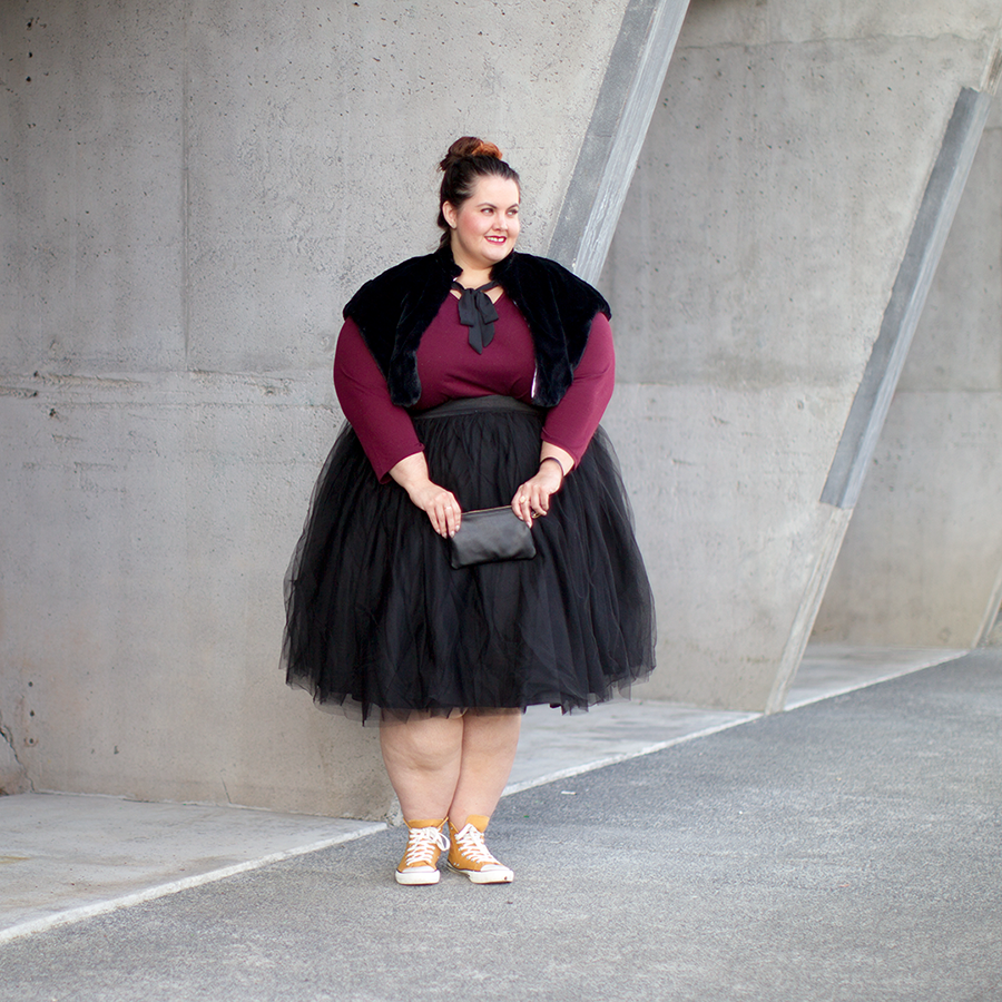41bbe946 New Zealand plus size fashion blogger Meagan Kerr wears Kate Madison top  from The Warehouse; ...