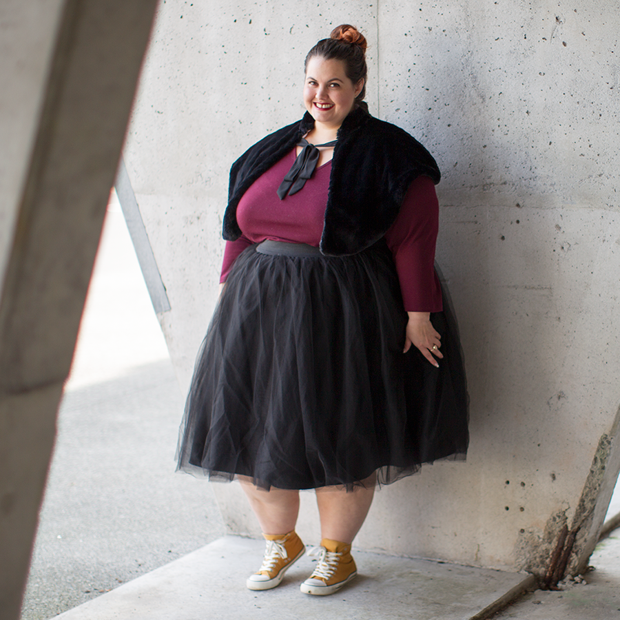 202e63d15ca0 New Zealand plus size fashion blogger Meagan Kerr wears Kate Madison top  from The Warehouse  ...