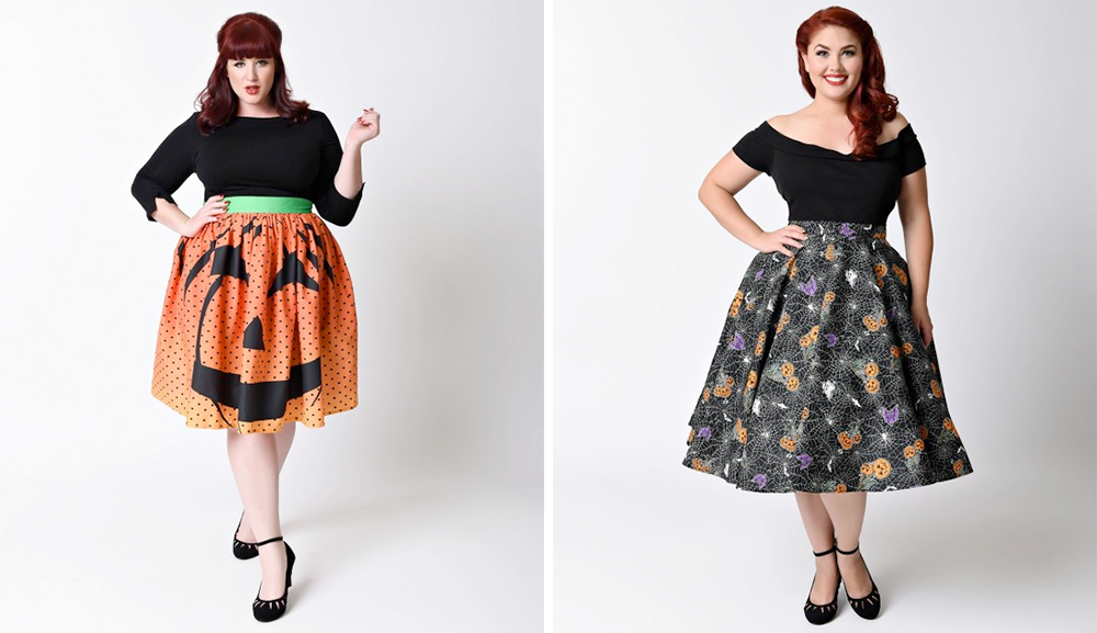 Plus size Halloween costume ideas spooky skirts from Unique Vintage ...  sc 1 st  This is Meagan Kerr & Plus Size Halloween Costumes - This is Meagan Kerr