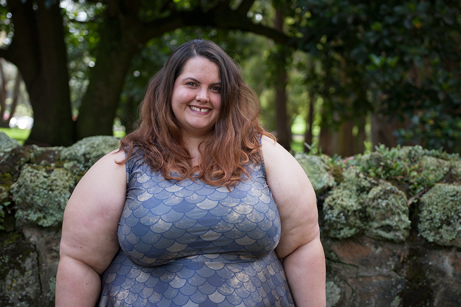 ba413fe93d Mother of Dragons | New Zealand plus size fashion blogger Meagan Kerr wears  Dragonscale dress from ...