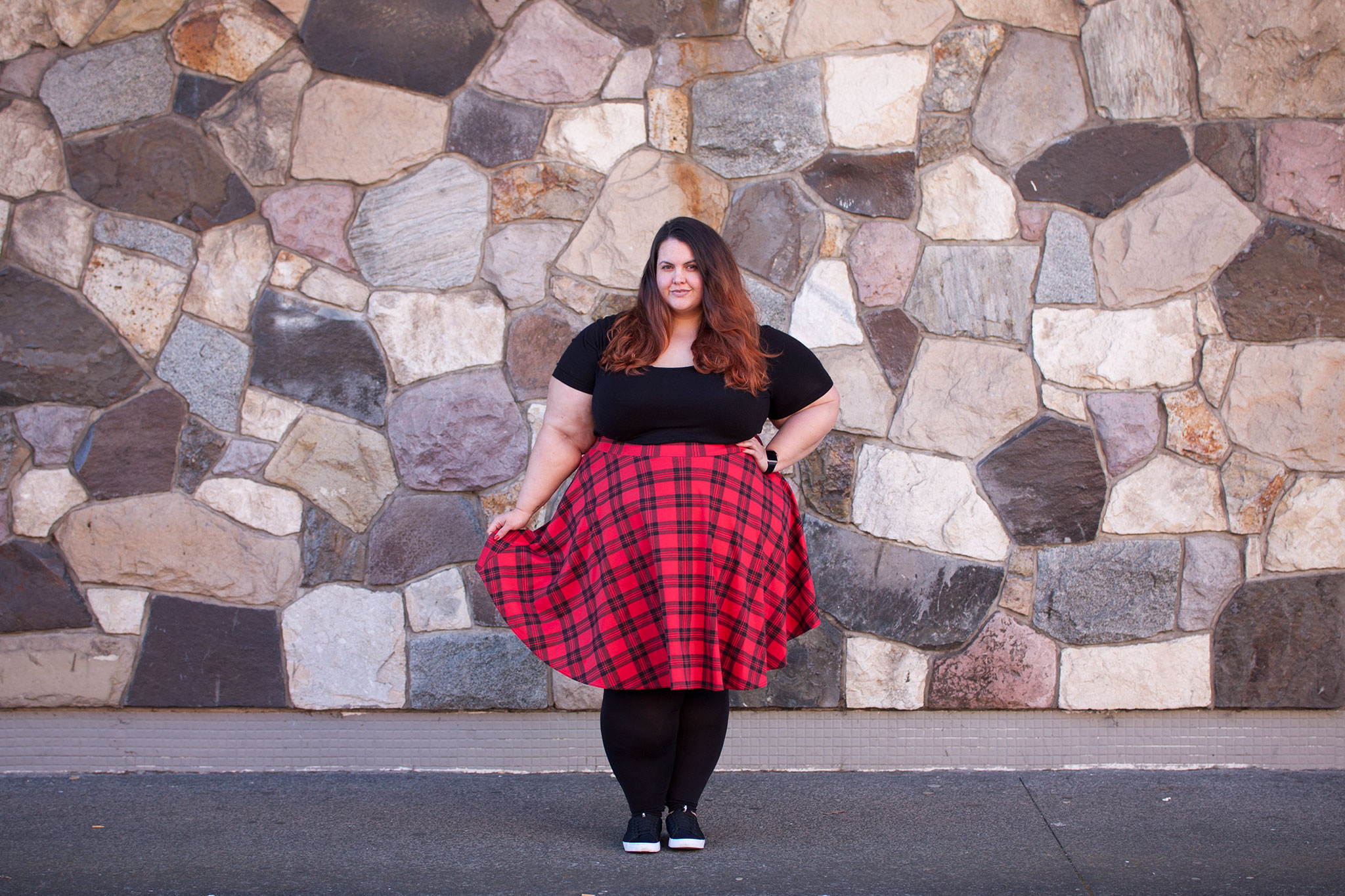 df75ad166110 New Zealand plus size blogger Meagan Kerr wears Wildchild tee from Farmers